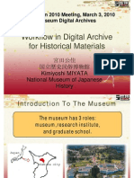 Workflow in Digital Archive for Historical Materials