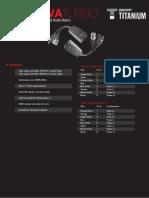 Especificaciones técnicas TT101PVATURBO