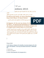 New Questions 2015 dental