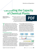 Calculating the Capacity of Chemical Plants