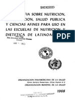 Bibliografia sobre Nutrición, Alimentación, Salud Pública.