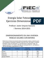 3. Energía Solar Fotovoltaica - Ejercicios Dimensionamiento