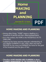 Home Making and Planning