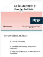 Tecnicas de Muestreo y Analisis de Datos