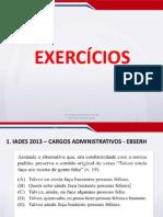 Gramática - Aula 01.4 - Morfologia - Emprego Das Classes Gramaticais - Exercícios