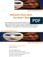 Halloween Party Ideas - The Mask I Wear