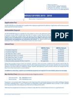 3 0 Schedule of Fees 22 Sep 2015