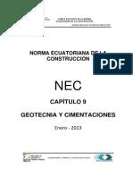 Nec2011 Cap9 Geotecnia y Cimentaciones 2013