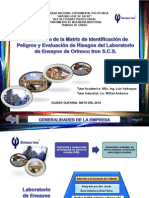 Elaboracion Matriz Identificacion Peligros y Evaluacion Riesgos Del Laboratorio Ensayos