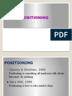 1. Positioning