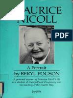 Maurice Nicoll _A Portrait - Beryl Pogson