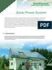 Grid-Off Solar Power System