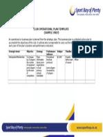 2.5. Operational Plan Template
