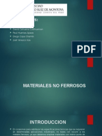 Exposicion Materiales No Ferrosos