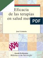 Eficacia de Las Terapias en Salud Mental - Jose Guimon