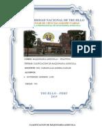 CLASIFICACIONES DE MAQUINARIA AGRICOLA