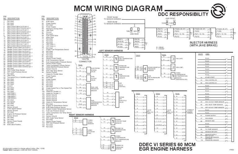 mcm diagrama electronico detroit diesel serie 60 ddec vi rh es scribd com Wiring Diagrams for Peterbilt Trucks Series 60 ECM Wiring Diagram