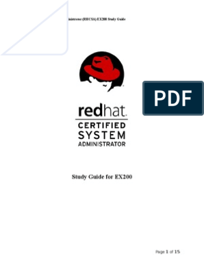 Red Hat Certified System Administrator Study Guide | File