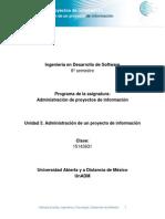 Unidad 3 Administracion de Un Proyecto de Informacion