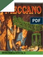 MECCANO  Manual 1949 Meccano Set 10 1A