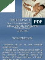 1- Macrosomia Fetal
