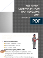 Mesyuarat Lembaga Disiplin Dan Pengawas 2011