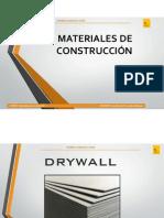 Material Es de Cons Trucci n Drywall