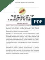 Programa de Trabajo LISTA H, CONSTRUYENDO REBELDÍA