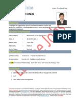 Zubair Ahmed Arain- Admin