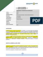 Programa Programación y Presupuestos de Construcción 2015-2