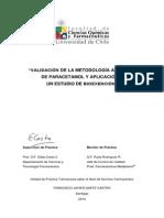 Validacion de La Metodologia Analitica de Paracetamol y Aplicacion a Un Estudio de Bioexencion