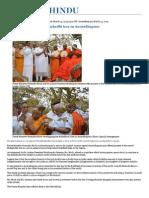 Modi Offers Prayer at Mahabodhi Tree in Anuradhapura - The Hindu