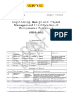 Engineering, Design and Project Management Identification of Competence Procedure