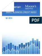 Experian Moodys Analytics Small Business Credit Index q1 2014