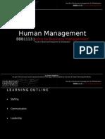 Chapter 8 - Human Management