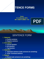 6 Sentence Forms