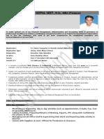 Panchu Gopal Seet, MBA (Finance & MIS)