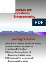 English Unit 2 Creativity and Innovation in Entrepreneurship