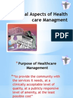 Financial Aspects of Health Care Managment
