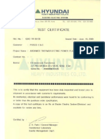 POWER TRANSFORMERS - Inicial Test Report