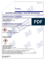 Alcohol Industrial - Msds