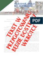 Apel Misyjny - październik 2015 [POLSKI]