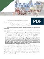 Appel Missionnaire - Octobre 2015 [FRANÇAIS]