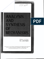ANALYSIS AND SYNTHESIS OF MECHANISMS