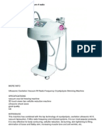 Ultrasonic Cavitation Vacuum Rf Radio Frequency Cryolipolysis Slimming Machine