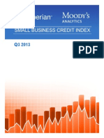 Experian Moodys Analytics Small Business Credit Index q3 2013