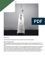 40k Cavitation 5mhz Bi-polar Rf Vacumm Roller Infrared Cellulite Operation