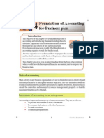 Foundation of Accounting for Business Plan