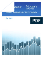 Experian Moodys Analytics Small Business Credit Index q4 2012