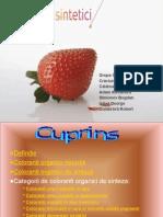 Coloranti sintetici